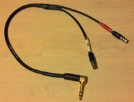 1.5ft 90 TRS to 2 - 2A4F Wireless Y Cable